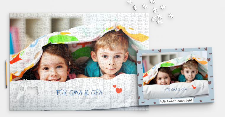 Fotopuzzle mit 1.000 Teilen inklusive Schachtel online bestellen