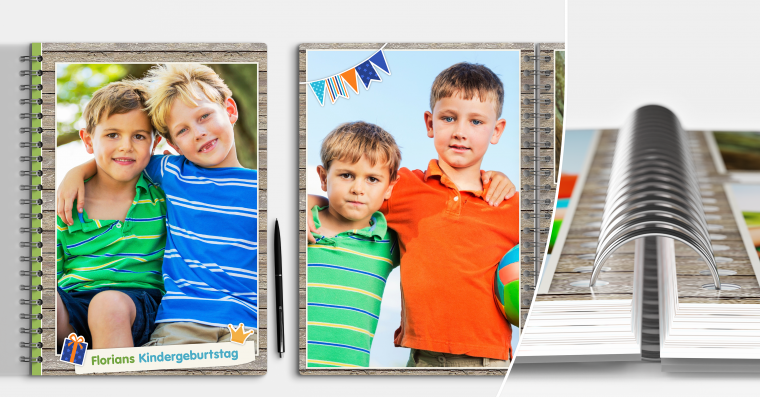 Fotobuch erstellen mit Ringbindung DIN A4 hoch