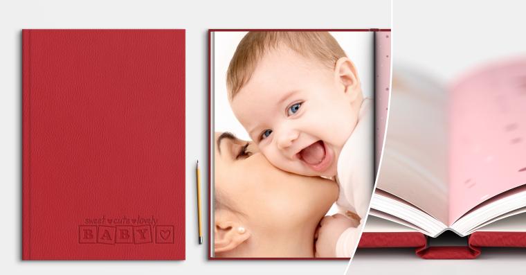 Fotobuch erstellen mit Prägung DIN A4 hoch
