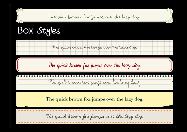 Textbox Stile kostenlos