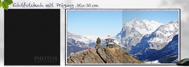 Echtfotobuch erstellen mit Prägung 30x30 cm quadratisch