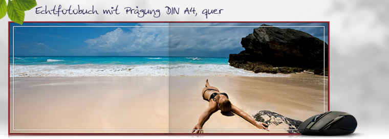Echtfotobuch erstellen mit Prägung DIN A4 quer