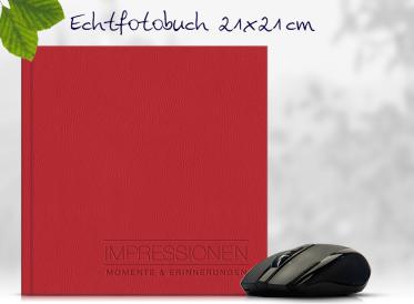 Echtfotobuch erstellen mit Prägung 21x21 cm quadratisch