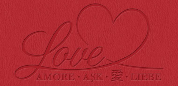 Echtfotobuch erstellen mit Prägemotiv Liebe