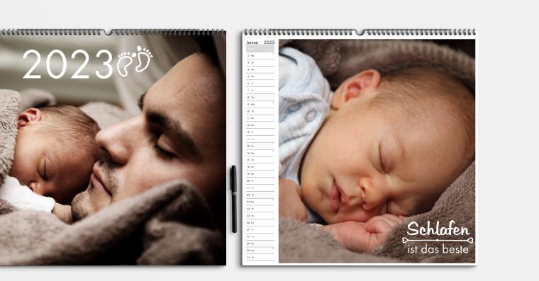 Fotokalender gestalten im quadratischen Format 42x42 cm