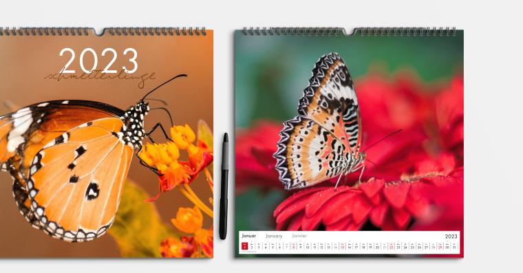 Fotokalender gestalten im quadratischen Format 30x30 cm