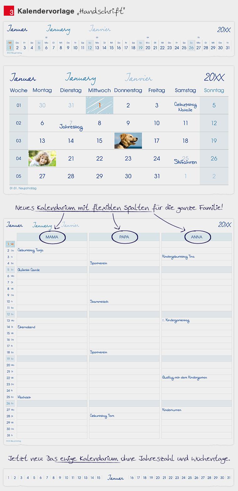 Kalendervorlage Familie
