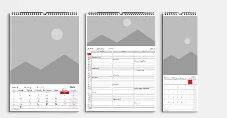 Kalendervorlage Büro