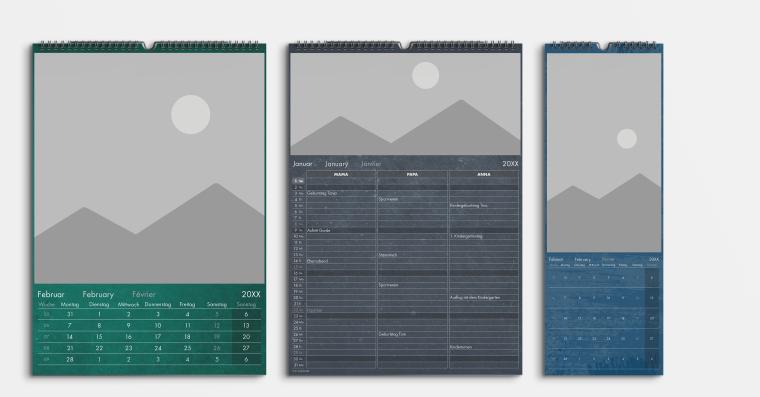 Jahreskalender Vorlage transparent