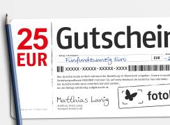 Wandbild Gutschein 25 EUR bestellen