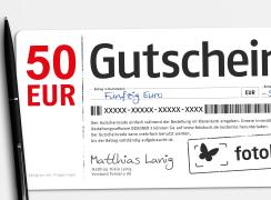Wandbild Gutschein 50 EUR bestellen