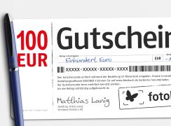 Wandbild Gutschein 100 EUR bestellen