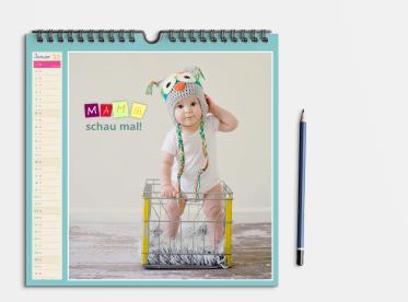 Fotokalender gestalten 21x21 cm quadratisch