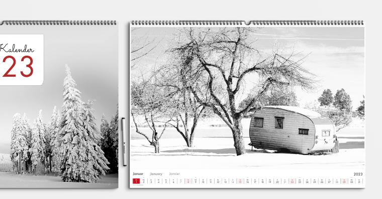 Fotokalender gestalten DIN A2 im Hoch- oder Querformat