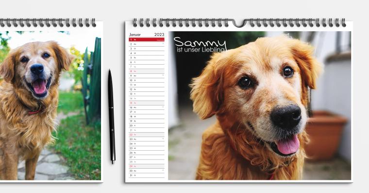Fotokalender DIN A4 im Hoch- oder Querformat gestalten