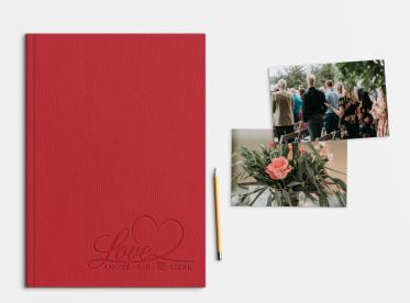 LayFlat Fotobuch erstellen mit Prägung DIN A4 hoch