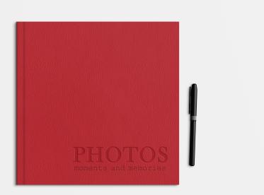 LayFlat Fotobuch erstellen mit Prägung 21x21 cm quadratisch
