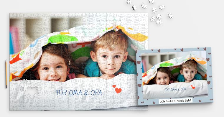 1.000 Teile Fotopuzzle inklusive Schachtel selbst gestalten